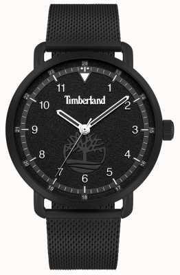 Timberland Style de vie urbain | bracelet en maille d'acier noir | cadran noir | 15939JSB/02MM