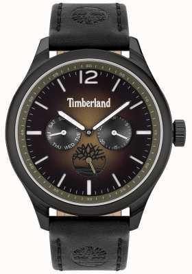 Timberland Style de vie urbain | bracelet en cuir noir | cadran noir | 15940JSB/19