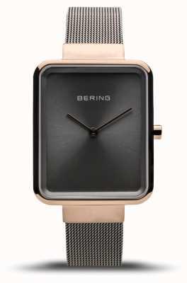 Bering Classique femme | maille grise polie | cadran gris 14528-369
