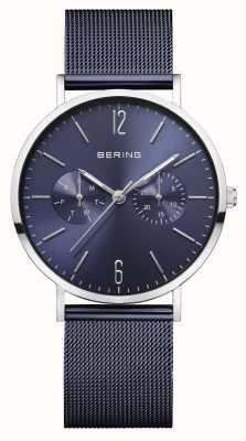 Bering | classique pour femmes | bracelet en maille bleue | cadran bleu | 14236-303