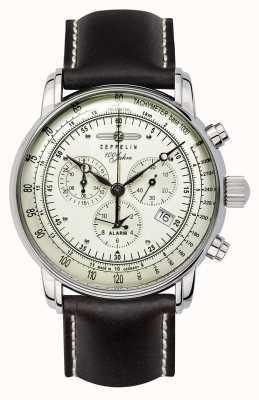 Zeppelin 100 ans | quartz suisse | montre chronographe 8680-3