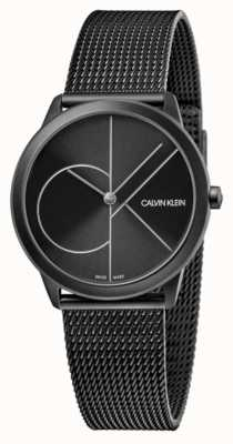Calvin Klein Unisexe | minimal | maille pvd noir | cadran noir K3M5245X