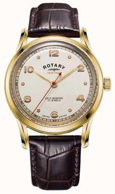 Rotary Hommes | édition limitée | patrimoine | bracelet en cuir marron GS05143/03