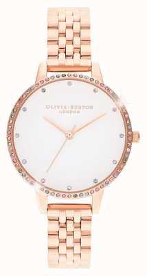 Olivia Burton | femmes | lunette arc-en-ciel | bracelet en or rose | OB16RB21