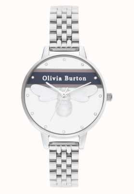 Olivia Burton | femmes | abeille chanceuse universitaire | bracelet en argent | OB16VS07
