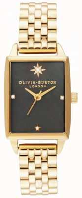 Olivia Burton | faux céleste | cadran en nacre noire | bracelet en or OB16GD60