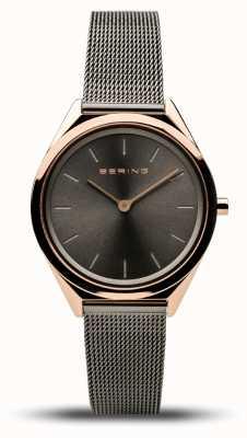 Bering | unisexe | ultra-mince | bracelet en maille grise | 17031-369