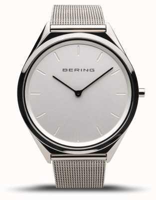 Bering | unisexe | ultra-mince | bracelet en maille d'argent poli | 17039-000
