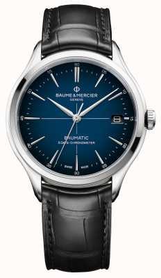 Baume & Mercier Clifton | baumatic | cadran bleu cadran | bracelet noir M0A10467
