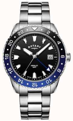 Rotary Henley pour hommes | bracelet en acier inoxydable | lunette bicolore | GB05108/63