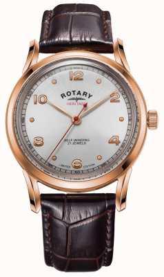 Rotary Héritage édition limitée pour hommes | boîtier en or rose | GS05144/70