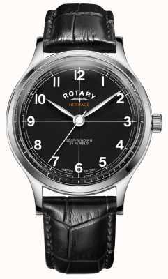 Rotary Héritage édition limitée pour hommes | bracelet en cuir noir | GS05125/04