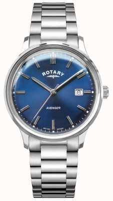 Rotary Vengeur des hommes | bracelet en acier inoxydable | cadran bleu GB05400/05