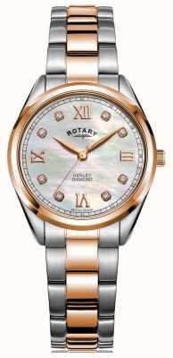 Rotary Henley femme | bracelet en acier bicolore | cadran serti de diamants LB05112/41/D