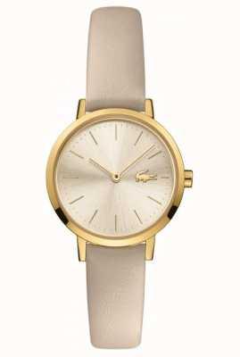 Lacoste Lune des femmes | bracelet en cuir | cadran champagne 2001119