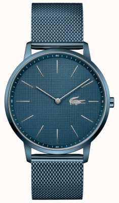 Lacoste Lune des hommes | bracelet en maille pvd bleu | cadran bleu 2011057