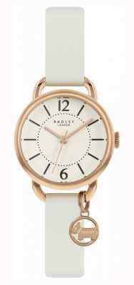 Radley | bracelet en cuir blanc pour femme | cadran champagne | RY2984
