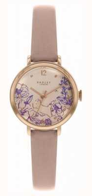 Radley | bracelet en cuir nude pour femme | cadran imprimé floral | RY2980