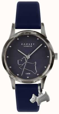 Radley | bracelet en silicone bleu marine pour femme | cadran bleu marine | RY2845