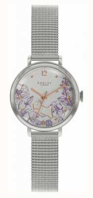 Radley | bracelet femme en maille d'acier | cadran imprimé floral RY4523