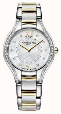 Raymond Weil Cadran nacre femme Noemia 32 mm avec diamants 5132-SPS-00985