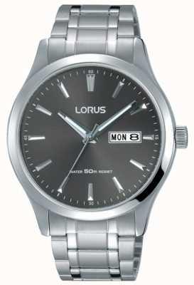 Lorus Bracelet homme en acier inoxydable cadran gris RXN35DX9