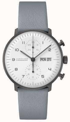 Junghans Chronoscope de facture max | 40mm ex-display noir & blanc (date anglaise) 027/4008.05 Ex-Display