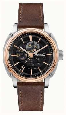Ingersoll Hommes | le réalisateur | automatique | bracelet en cuir marron I09901