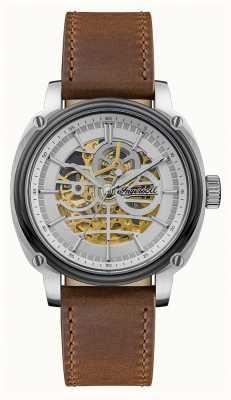 Ingersoll Hommes | le réalisateur | automatique | bracelet en cuir marron I09902