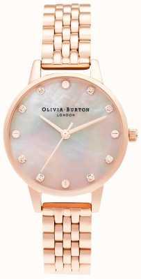 Olivia Burton | cadran de vadrouille midi avec détail de vis | bracelet en or rose | OB16SE10