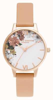 Olivia Burton | éclat floral | midi | or rose | bracelet corail | OB16BF30