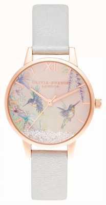 Olivia Burton Wishing Wings - Mi-longue perle scintillante et or rose OB16PP61