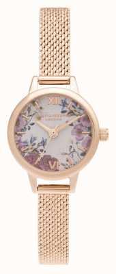 Olivia Burton Bracelet en or rose avec mini cadran Mini Blooms OB16EG156