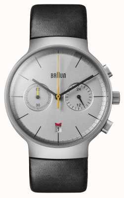 Braun Hommes | classique | chronographe | Cuir noir BN0265SLBKG