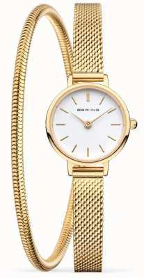 Bering Coffret cadeau fête des mères | montre et bracelet en maille d'or 11022-334