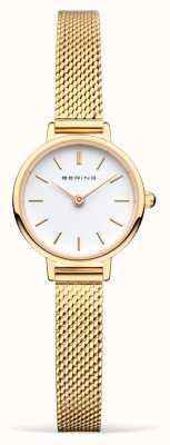 Bering Bracelet en maille d'or pour femme | cadran blanc 11022-334