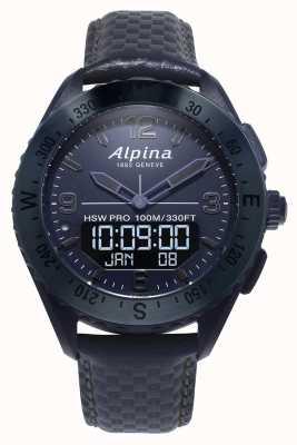 Alpinarx | édition spatiale | smartwatch | bracelet en cuir bleu AL-283SEN5NAQ6