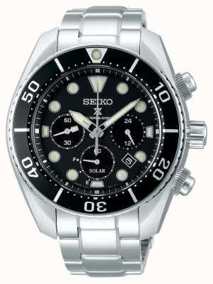 Seiko Prospex gents solaire | bracelet en acier inoxydable | cadran noir SSC757J1