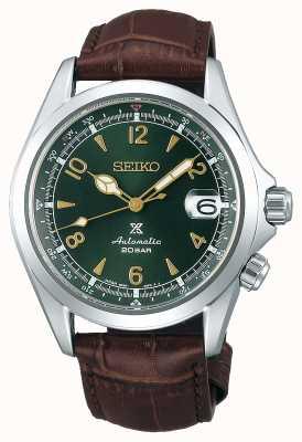 Seiko Prospex hommes alpiniste mécanique | bracelet en cuir marron SPB121J1