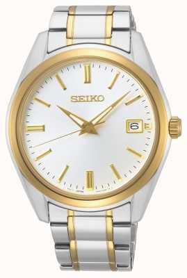 Seiko   quartz hommes conceptuels   bracelet bicolore   cadran argenté SUR312P1