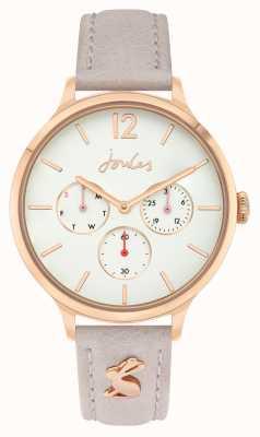 Joules Femmes | bracelet en cuir rose | cadran blanc | JSL001ERG