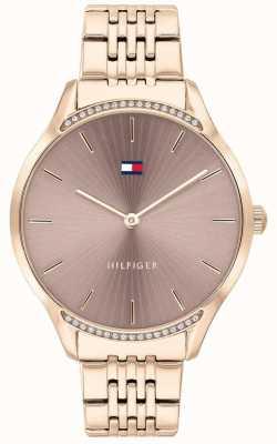 Tommy Hilfiger Gris | bracelet plaqué or rose | cadran taupe 1782212