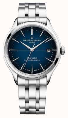 Baume & Mercier | clifton baumatic | bracelet en acier inoxydable | cadran bleu | M0A10468
