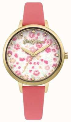 Cath Kidston Cadran imprimé floral pour femme | bracelet en cuir corail CKL096PG
