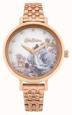 Cath Kidston | somerset femme | bracelet en plaqué or rose | cadran fleuri CKL087RGM
