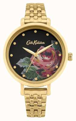 Cath Kidston | oxford pour femmes | bracelet en acier plaqué or | cadran fleuri CKL087GM