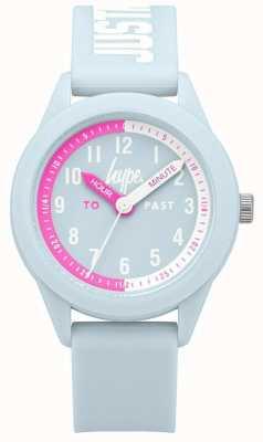 Hype | bracelet en silicone bleu pâle | cadran bleu clair | HYK010U