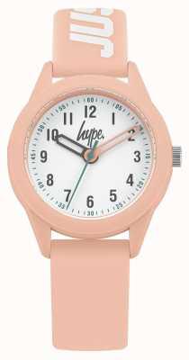 Hype | bracelet en silicone rose | cadran blanc | HYK005P