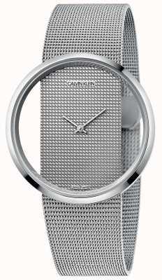 Calvin Klein | glam | bracelet en maille d'acier argenté | cadran argenté | K9423T27