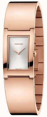 Calvin Klein | polonais | bracelet en acier plaqué or rose | cadran argenté | K9C2N616